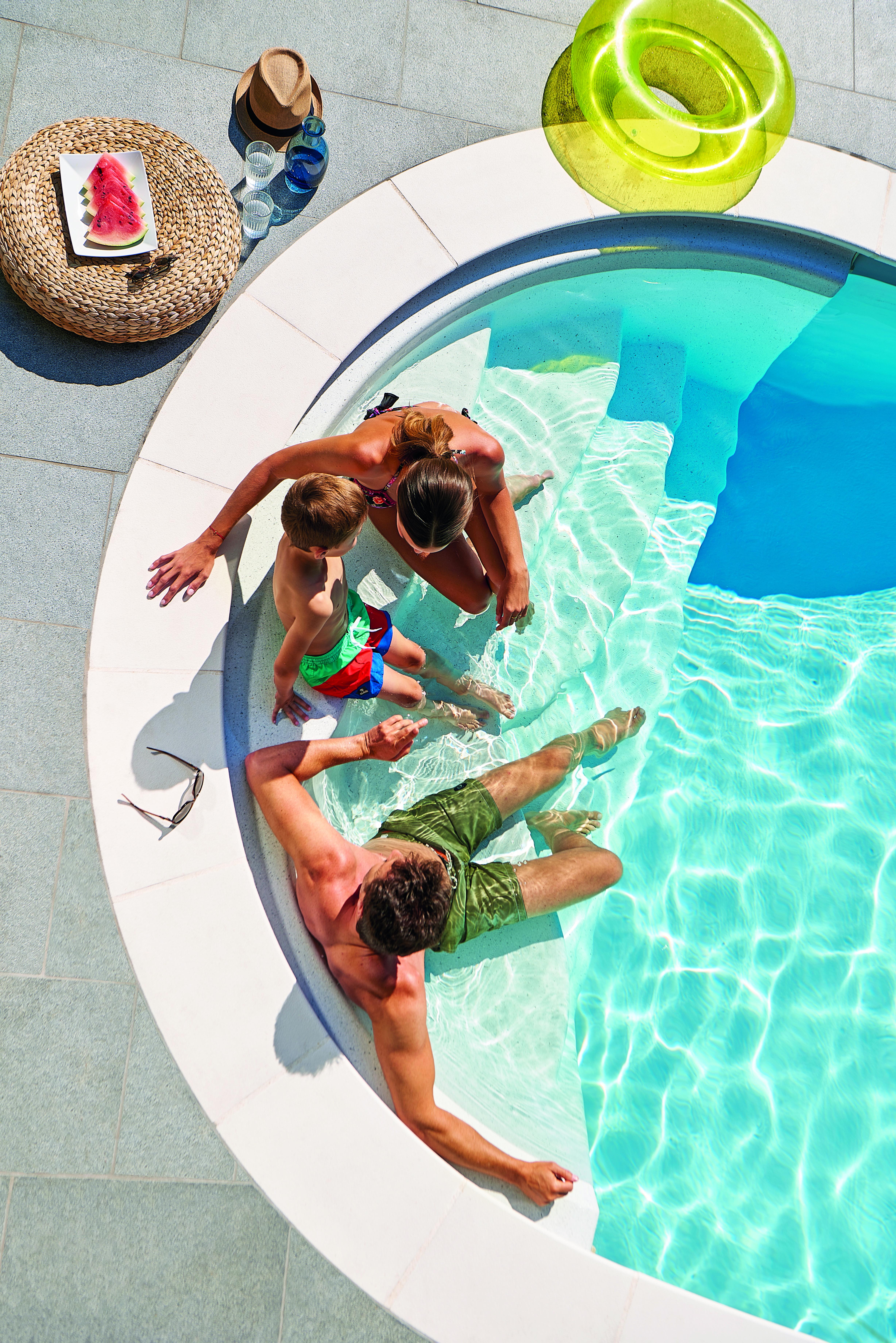 Quand la piscine vous offre LE FARNIENTE TOTAL Maison