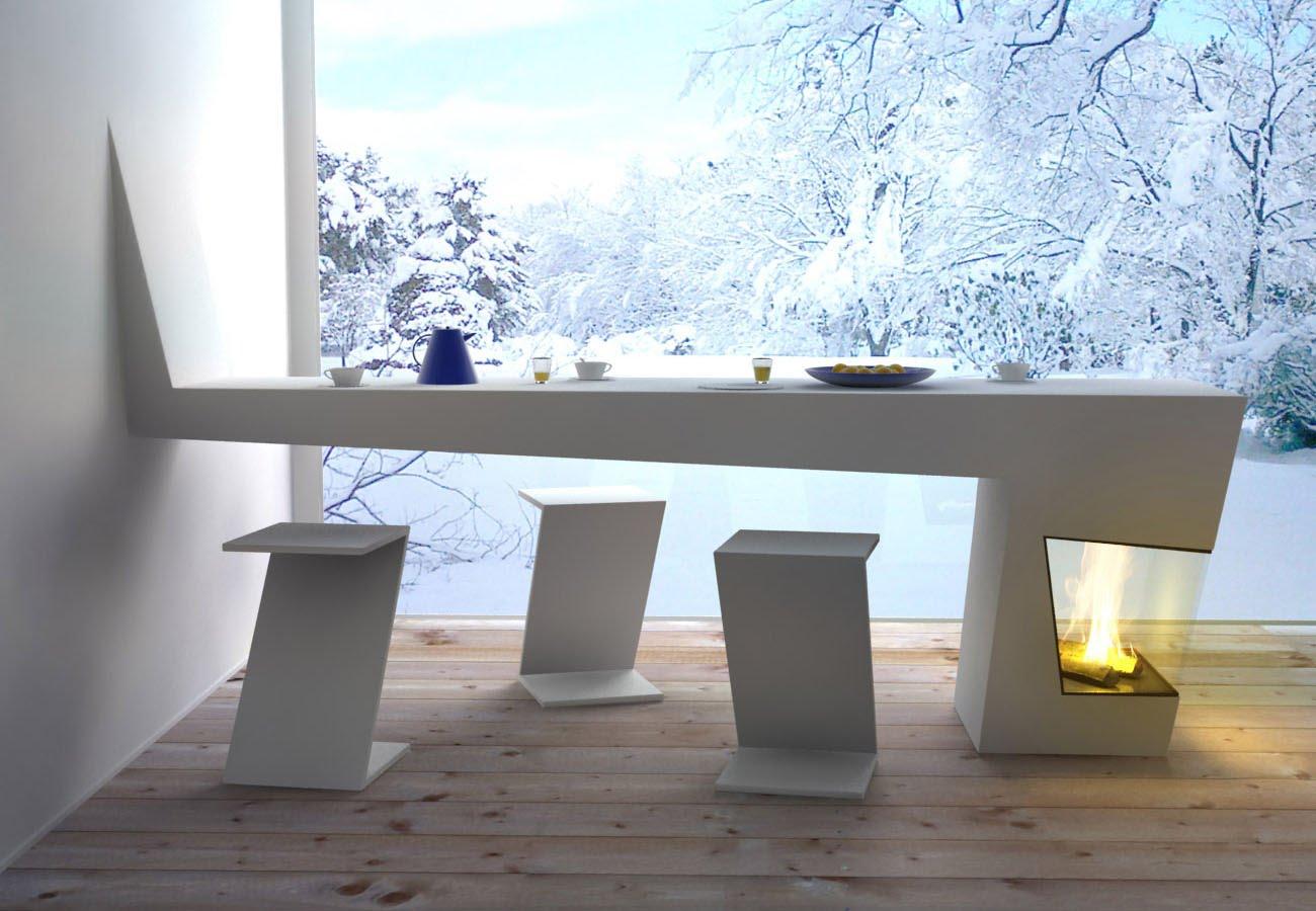 Les Belles créations: craquez pour une table cheminée!